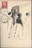 Tarif Le + éphémère 1 1 47 Enveloppe Dessinée Encre De Chine YT 719A 5F Rose Marianne Gandon CAD La Rivière St Sauveur - Tarifs Postaux