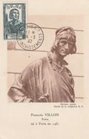 CARTE MAXIMUM - 1947 - N°765 : F.Villon - 1940-49
