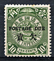 CHINA 1904 Postage Due - Yv.6 (Mi.Porto 6, Sc.J6) MH (perfect) VF - Unused Stamps