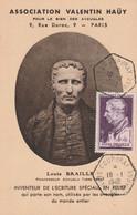 CARTE MAXIMUM - 1948 - N°793 : Louis Braille - 1940-49