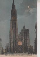 BELGIUM - Moonlight View ANTWERPEN Bij Nacht - De Hoofdkerk - Antwerpen