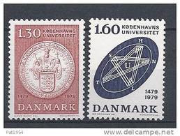 Danemark 1979 Série Neuve**  N° 678/679 Université De Copenhague - Ungebraucht