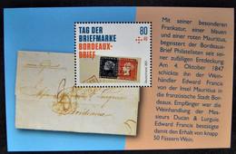 """Bund/BRD September 2021,  Block 88 """"Tag Der Briefmarke-Bordeaux-Brief"""", MiNr 3623, Postfrisch - Ongebruikt"""