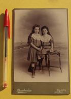 432, Enfants, Fillettes Sœurs Jumelles, Photo Chamberlin à Trouville Sur Mer, Format Voir Stylo, état Voir Photos - Other