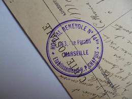 MARSEILLE  -  13  -  La Cannebière  -  Cachet Hôpital Bénévole Militaire  14 Bis   -  Bouches Du Rhône - The Canebière, City Centre