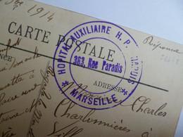 MARSEILLE  -  13  - Quai De La Joliette    -  Cachet Hôpital Bénévole Militaire  14 Bis   -  Bouches Du Rhône - Joliette, Zona Portuaria