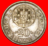 * PORTUGAL: SAINT THOMAS & PRINCE ★ 20 CENTAVOS 1929 UNCOMMON! LOW START ★ NO RESERVE! - Sao Tome And Principe
