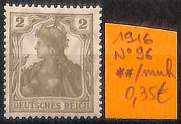 NB - [825571]TB//**/Mnh-Allemagne 1916 - N° 96 - Nuovi
