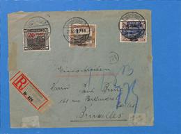 Saar 1921 Lettre De Saarbrücken à Bruxelles (G3152) - Lettres & Documents