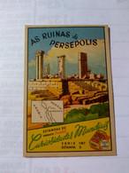 Eucalol SOAP Cromo No Postcard 6*9 Cmt .persia.ruins Of Persépolis..world Curiosities Series.better .2 Diff Pieces Order - Iran