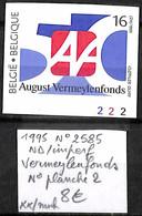 NB - [843092]TB//**/Mnh-Belgique 1995 - N° 2585, ND/Imperf, Vermeylenfonds, N° Planche 2 - 1991-2000