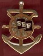** PIN' S  SOCIETE  ECLUSIER  De  FRANCE  +  3  ECUSSONS  S. E. F. ** - Boats
