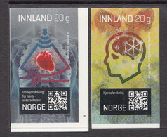 2020 Norway Technology & Innovation Health Ultrasound Complete Set Of 2 MNH - Unused Stamps