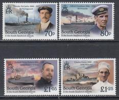 2020 South Georgia Shackleton's Unsung Heroes Ships Complete Set Of 4 MNH @ BELOW FACE VALUE - Südgeorgien