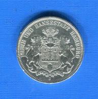 Allemagne  3  Mark  Hamburg   1909 - 2, 3 & 5 Mark Silber