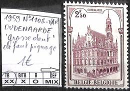 NB - [849265]TB//**/Mnh-Belgique 1959 - N° 1108-VAR, DUDENAARDE (grosse Dent' Défaut De Piquage, Eglises Et Cathédrale - Unused Stamps