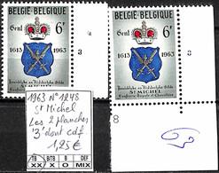 NB - [849357]TB//**/Mnh-Belgique 1963 - N° 1248, St Michel, Les 2 Planches '3' Dont Cdf, Armoiries - 1961-1970