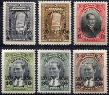 TURKEY 1936 - Yv.872-877 (Mi.1004-1009, Sc.775-778) MNH (postfrisch) Perfect - Ungebraucht