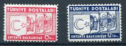 TURKEY 1937 - Mi.1014-1015 MNH (postfrisch) VF - Ungebraucht