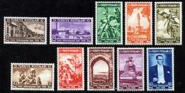 TURKEY 1938 - Yv.884-893 (Mi.1019-1028, Sc.789-798) MLH (VF) - Ungebraucht
