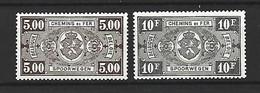 Timbre Belgique Colis Postaux  Neuf * N 211/212 - 1923-1941