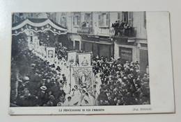Biella La Processione In Via Umberto 1914 - Biella