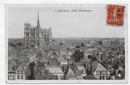 (RECTO / VERSO) AMIENS EN 1911 - N° 1 - VUE GENERALE - Ed. MARQUE ETOILE - CPA VOYAGEE - Amiens
