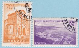 Monaco 1957 SC#407,SC#408 UNH Cat: £12.50 - Used Stamps