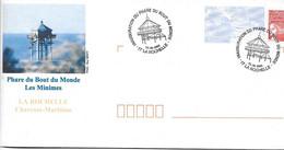 3083 - INAUGURATION DU PHARE DU BOUT DU MONDE LES MINIMES, Le 10-06-2000 LA ROCHELLE Sur Prêt-à-Poster - Commemorative Postmarks