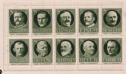 Germany/Austria/Hungary Cindarella Österreich Für FLIEGERHEIM WW I BLOCK OF 10 Extra Rare - Erinnophilie