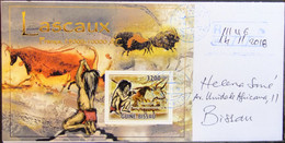 Guinea-Bissau - Registered Cover 2018 Prehistoric Man Paintings Lascaux - Archaeology
