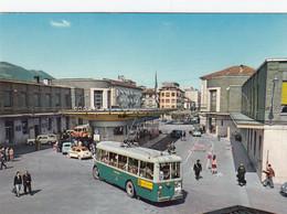 ZWITZERLAND-SCHWEIZ-SUISSE-SVIZZERA-CHIASSO-AUTOBUS-BUS-FILOBUS-PULMANN- CARTOLINA VERA PHOTO- NON VIAGGIATA - TI Ticino