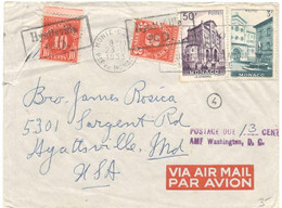United States 1950, Airmail Sent From Racine On 04/12/1950 To Buenos Aires. Reception Mark On The Back - Covers & Documents