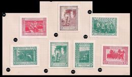 WW1 ERA Germany/Austria/Hungary Cinderella Vignette SET OF 7 UKRAINISCHE LEGION RARE UKRAINE LEGION - Erinnophilie