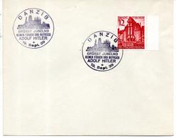 Dantzig Premier Jour  Fdc  1939  Voeux Pour Hitler - Ohne Zuordnung
