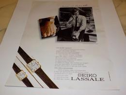ANCIENNE  PUBLICITE  MONTRE  LASSALE DE SEIKO 1982 - Altri