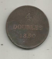 Monnaie , Guernesey , 1830,  4 Doubles , 2 Scans - Guernsey