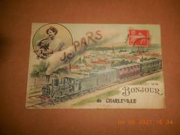 CPA - Un Bonjour De Charleville Be (D 08) - Charleville