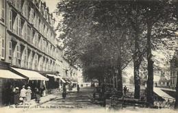 QUIMPER  La Rue Du Parc L'Hotel De L' Epée  Animée Commerces RV - Quimper