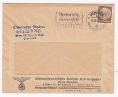 """Deutsches Reich Ortsbrief Der Ortsgruppe """"Stachus"""" EF Und SST - Briefe U. Dokumente"""