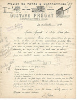 Facture Illustrée 1919 / 33 SAINT SUPLICE CAMEYRAC / G PREGAT / Forge & Charronnage - 1900 – 1949