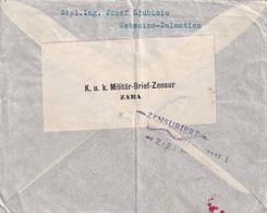 Dalmatien, Sebenico 1916 Nach Rasberg-Zeitz, Zensur Zara - Brieven En Documenten
