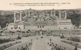 PARIS : EXPOSITION DES ARTS DECORATIFS 1925 - VUE DE L'ESPLANADE - Tentoonstellingen