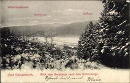 CPA Bad Salzdetfurth In Niedersachsen, Blick Vom Burgberge Nach Dem Sothenberge, Winter - Otros