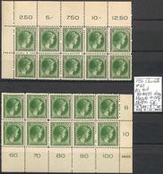 NB - [854107]TB//**/Mnh-Luxembourg 1926 - N° 167, 25c Vert Nuances Dans Bloc De 10 Cdf Chiffres , Personnalités - 1926-39 Charlotte De Perfíl Derecho
