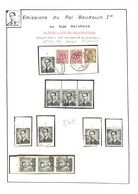 NB - [860513]TB//O/Used-Belgique 1953-65 - N° 924PB, N° Planches, Familles Royales, Rois - 1961-1970