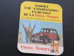 Ancien Sous-bocks Bière 2 CV Charleston Citroen VIEUX TEMPS - Belgique - Coches
