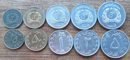 Afghanistan Set 5 Coins 25 50 Pul + 1 2 5 Afghani 1978 Taliban XF-aUNC - Afghanistan