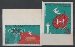 VIETNAM DU NORD - N°557/8 ** (1967) Première Bombe H Chinoise - NON DENTELE - - Vietnam