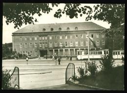 DDR Foto AK Um 1970, Karl-Marx-Stadt / Chemnitz, Hotel Trabant ( Gasthaus Siegmar) Davor Tram, Straßenbahn - Chemnitz (Karl-Marx-Stadt 1953-1990)